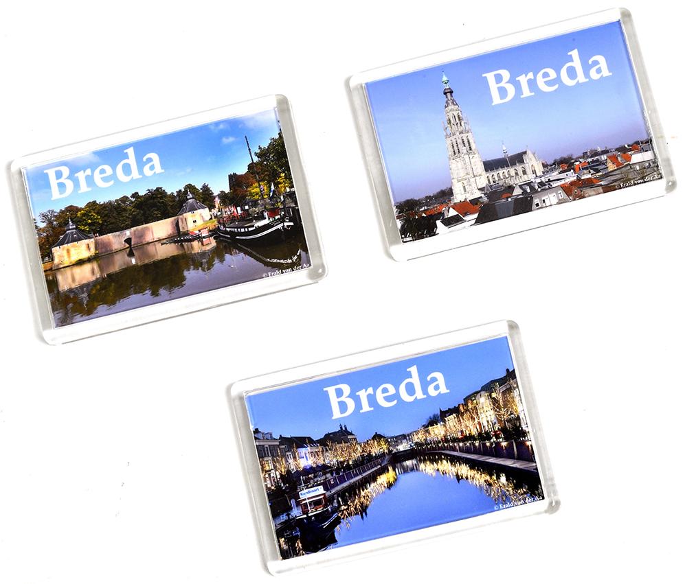 Breda koelkastmagneten (3 stuks)                 Incl €. 3,50 verzend & verpakkingskosten.